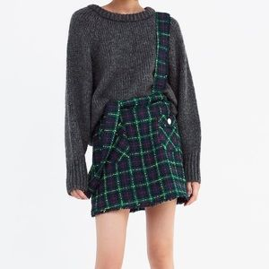 Zara Skirts - Zara plaid overall skirt with pockets